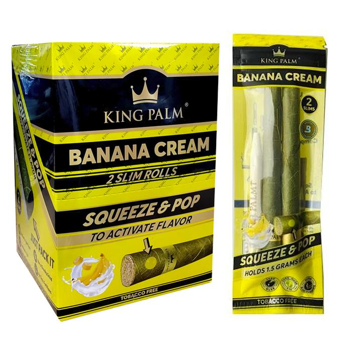 King Palm Banana Cream Slims 2 Pack