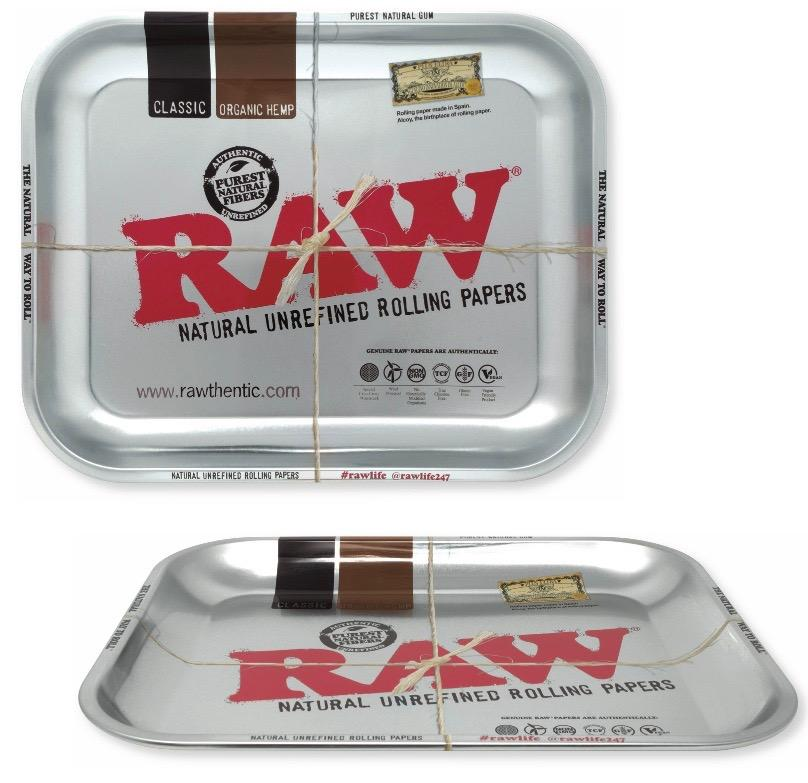 RAW Metallic Rolling Tray - Large