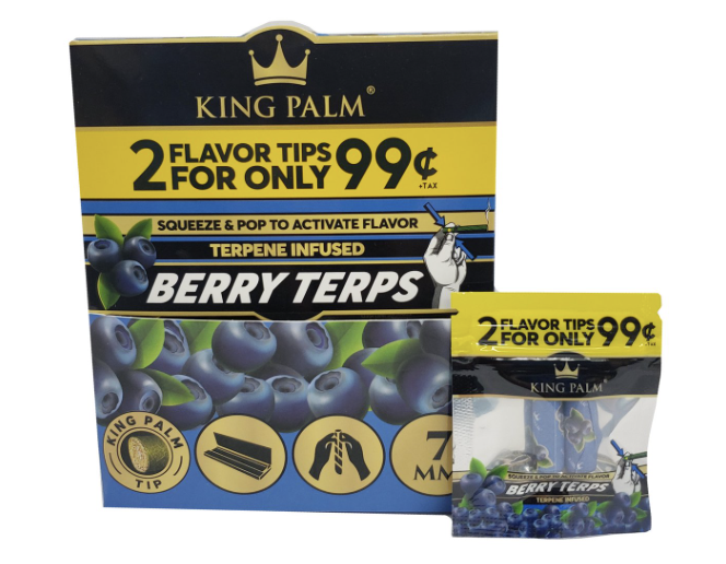 King Palm Berry Terps Filter Tips
